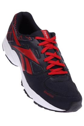 REEBOKMens White Black Sports Running Shoe