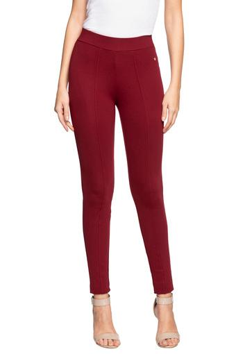 ALLEN SOLLY -  MaroonTrousers & Pants - Main
