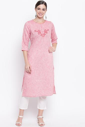 BE INDI -  Pink Kurtas - Main
