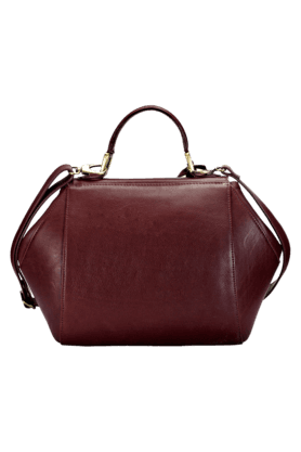 Womens Leather Magnet Closure Sling Bag