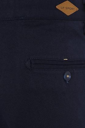 Mens 4 Pocket Self Printed Trousers