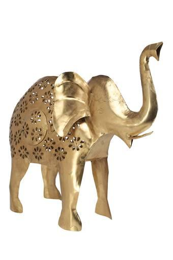 Gold Finish Tejas Elephant Figurine