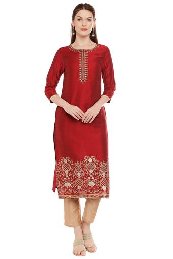 IMARA -  Maroon IMARA - Shop for Rs.4999 And Get Rs.500 Off - Main