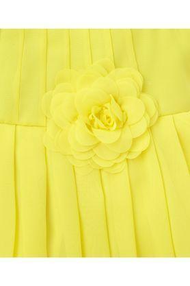 Girls Cotton Round Neck Solid Sleeveless Dress