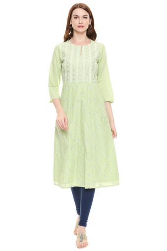 INDYA -  Green Kurtis & Tops - Main