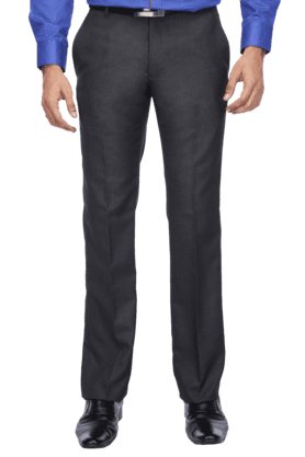 ARROW Mens Cotton Mid Rise Straight Fit Trouser