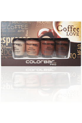 COLORBAR Pro Mini Nail Laquer Kit Coffee Love