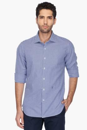 Rare Rabbit Formal Shirts (Men's) - Mens Regular Collar Check Shirt