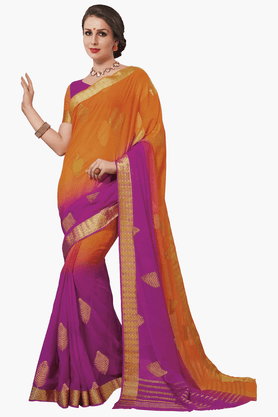 ASHIKA Womens Colour Block Saree - 201461558