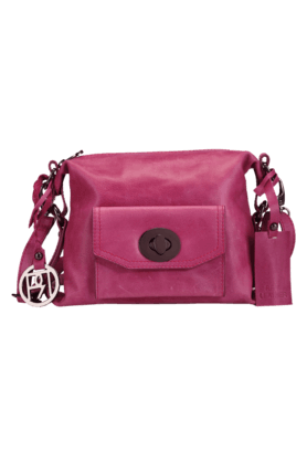 PHIVE RIVERS Womens Leather Zipper Closure Sling Bag (Use Code FB20 To Get 20% Off On Purchase Of Rs.1800)