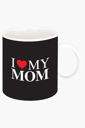 CRUDE AREAI Love My Mom Printed Ceramic Coffee Mug