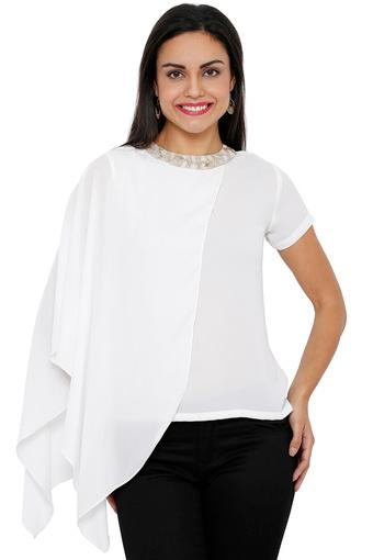 SOIE -  White Tops & Tees - Main