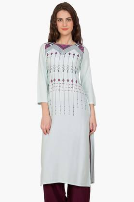 DESI BELLE Womens Printed Round Neck Kurta - 201829005