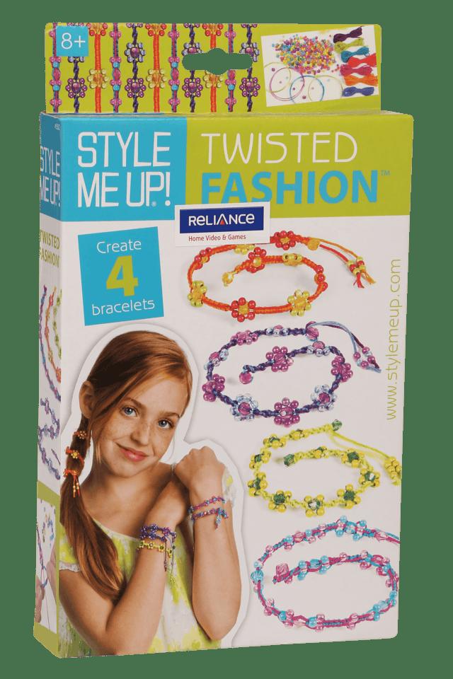 Girls Twisted Bracelet with Beads Set