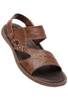 LEE COOPER Mens Leather Casual Sandal