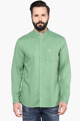 Bay Island Formal Shirts (Men's) - Mens Slim Fit Slub Shirt