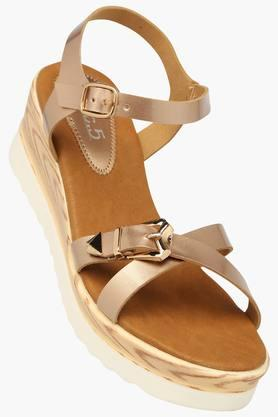 INC.5Womens Casual Ankle Buckle Closure Wedge Sandal