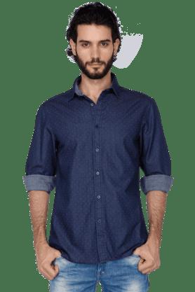 Celio Formal Shirts (Men's) - Mens Full Sleeves Slim Fit Casual Printed Shirt