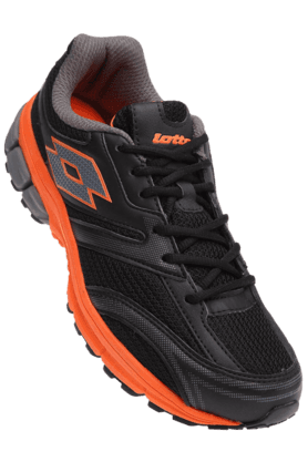 LOTTO Mens Black Orange Sports Running Shoe