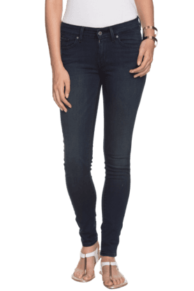 Women Slim Fit Full Length Jeans