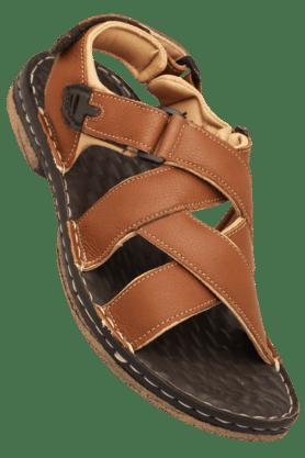 LEE COOPERMens Slipon Velcro Closure Sandal