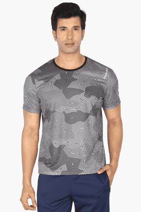 REEBOKMens Round Neck Short Sleeves Printed T-Shirt - 200697270