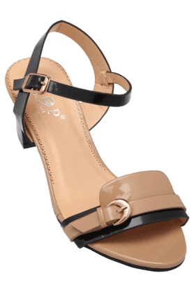 STOP Womens Daily Wear Ankle Buckle Closure Heel Sandal