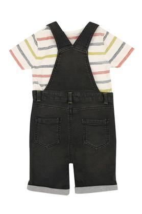Boys Round Neck Assorted Dungarees and Tee