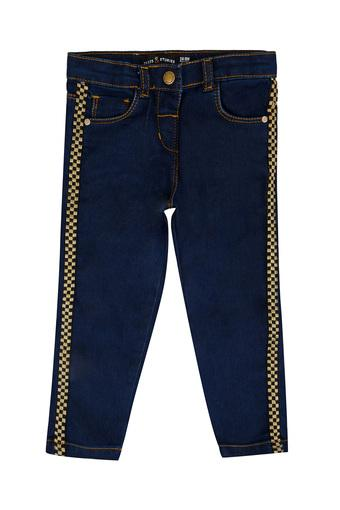 Girls Slim Fit Solid Jeans