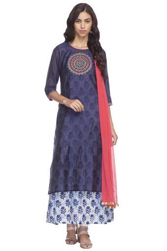 HAUTE CURRY -  BlueSalwar & Churidar Suits - Main