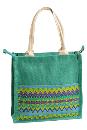 SWAYAM Zora Jute Printed Mini Bag (Set Of 2)