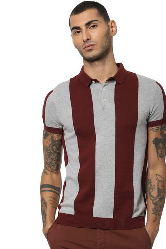 JACK AND JONES -  Maroon T-Shirts & Polos - Main
