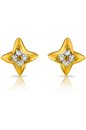 MAHIMahi Gold Plated Virtuous Beauty Earrings With Crystals For Women ER1108882G