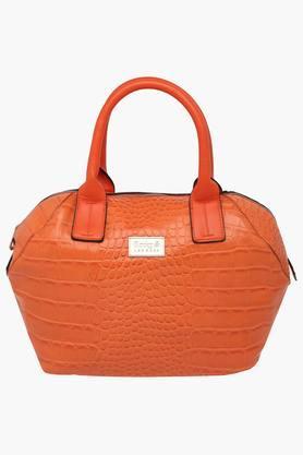 RS BY ROCKY STARWomens Zipper Closure Satchel Handbag