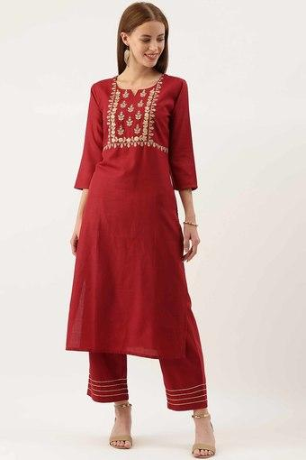 VARANGA -  MaroonIndianwear Sets - Main