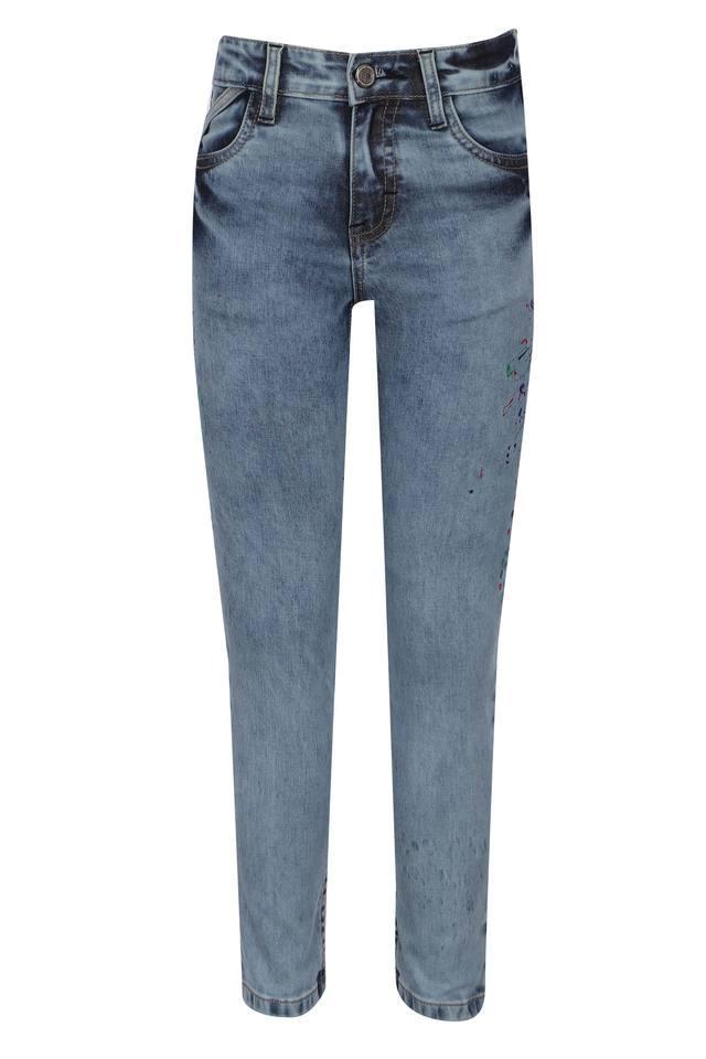 Boys 5 Pocket Stone Wash Jeans