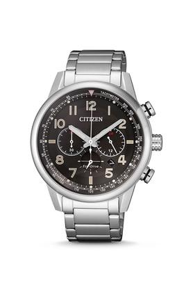 Mens Black Dial Stainless Steel Chronograph Watch - CA4420-81E
