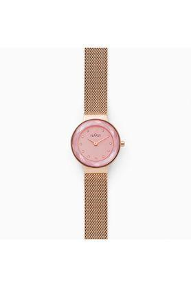 Womens Pink Dial Metallic Analogue Watch - SKW2768