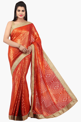 JASHN Womens Printed Saree With Blouse Piece - 201313042
