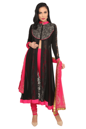 IRA SOLEIL Women A-Line Full Sleeves Churidar Suit