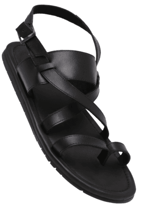 ALLEN SOLLYMens Ankle Buckle Closure Sandal