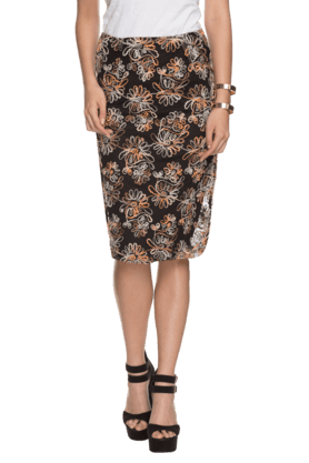 FEMINA FLAUNT Womens Knee Length Skirt