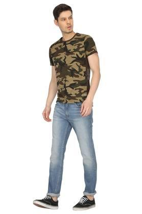 Mens Round Neck Camouflage T-Shirt