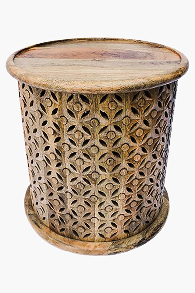 Walnut Cylindrical Irene Stool