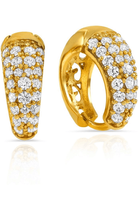 MAHI Mahi Gold Plated Scintillate Delight Earrings Made With CZ Stones For Women ER1108485G