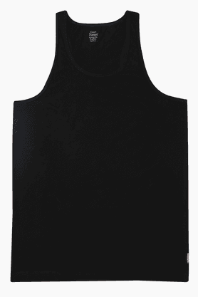 HANES Mens Stretch Solid Round Neck Vest - 201048433