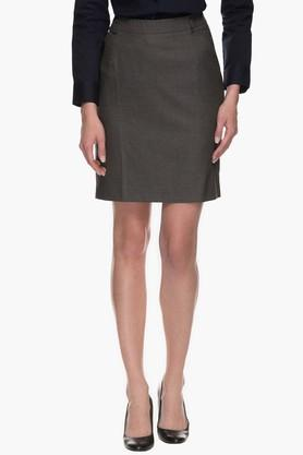 RS BY ROCKY STAR Womens Knee Length Slub Skirt