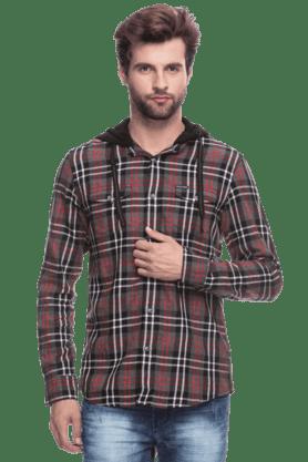 BEING HUMANMens Full Sleeves Slim Fit Check Jacket