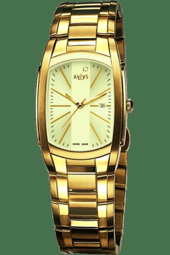Mens Cream Dial Watch NE9120YM01