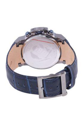 Mens Blue Dial Leather Chronograph Watch - CRA145SUBL03BL